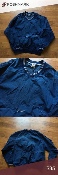 9faed36fb Vintage navy blue nike windbreaker Vintage navy blue nike pullover  windbreaker jacket Supreme condition No stains