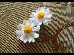 Earrings Daisies - YouTube