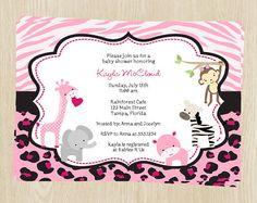 Pink safari baby shower invitations pinterest shower invitations pink safari baby shower invitations pinterest shower invitations babies and giraffe baby showers filmwisefo