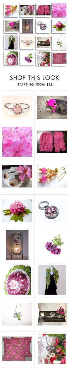 """""""Pink"""" by therusticpelican ❤ liked on Polyvore featuring Green & Spring, modern, contemporary, rustic and vintage"""