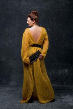 LANG YARNS FATTO A MANO 214 - MADE AUF VEDDEL # 8 Mohair Luxe Knitwear Fashion, Knit Fashion, Knit Skirt, Dress Skirt, Lang Yarns, Knit Crochet, High Neck Dress, Sari, Knitting