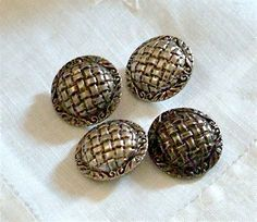 Set of 4 Large Pewter Colored Coat Buttons by SouthernLadyEstates, $4.50