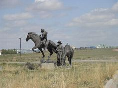The Pony Express statue at the entrance to the National Historic Trails Interpretive Center, Casper, Wyoming Casper Wyoming, Pony Express, Vacation Pictures, Jackson Hole, Cowboys, Trip Advisor, Milan, Entrance, Trail