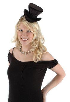f0caa0c009e50 Mini Top Hat Headband Black One Size Fits Most