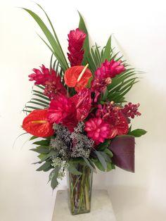ginger, anthurium, tropical -Love in Bloom Florist, Key West