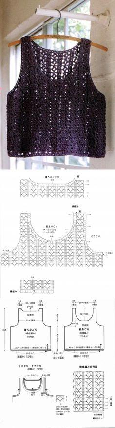 1190 - майки, топи - В'язання для жінок - Каталог статей - Md.Crochet