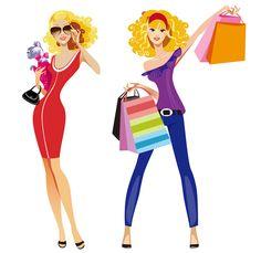 109 best illustration shopping images on pinterest grocery store rh pinterest com clipart ladies shopping free clipart woman shopping