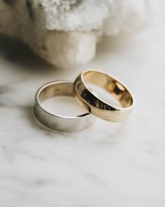 There's many things to consider when searching for a man's wedding ring. Will he want a polished, brushed, or matte look? Will he want a certain type of metal? We have a wide variety of ways to make sure that his wedding band is perfect for him. Choose the finish, fit, width, metal, and even add an engraving or a gemstone!
