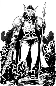 Lady Sif commission by MarcLaming.deviantart.com on @deviantART