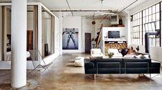 Gravity Home: Industrial Warehouse Loft In Brooklyn//Repinned via Decorget