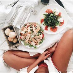 Bed picnic.