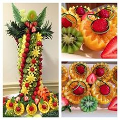 YummyTecture Fruit and Chocolate displays for all occasions. Edible art is our p… YummyTecture Fruit and Chocolate displays for all occasions. Edible art is our passion! Edible Fruit Arrangements, Fruit Centerpieces, Deco Fruit, Fruits Decoration, Deco Buffet, Fruit Creations, Food Sculpture, Fruit And Vegetable Carving, Food Carving