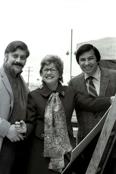 The Sherman Brothers: Robert B. Sherman and Richard M. Sherman together with Maxene Andrews. Sherman Brothers, Musical Film, Film Score, Aristocats, Composers, Musicals, January, Songs, American