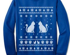 Cat Lover Christmas Sweater. Cat Lady Gift. Sweatshirts for Men and Women. Christmas Gift. Ugly Xmas.