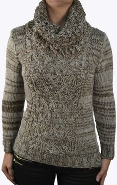 sweater - brown - wool sweater - wolle trui