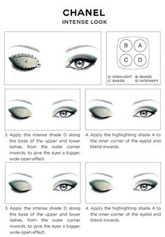 CHANEL-Eye-Makeup-Chart_CHANEL-INTENSE-EYES-LOOK-how-to-2014.jpg (735×1056)