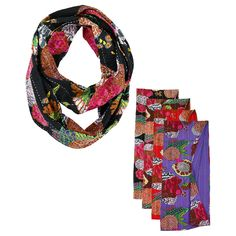 Hand Stitched Kantha Infinity Scarf at The Veterans Site