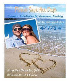 Save the Date Beach Wedding Postcard 100 by MyDayDesign on Etsy, $75.00