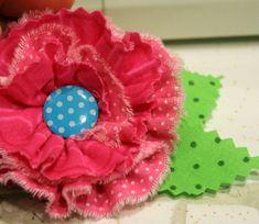 Fabric Flower EmbellishmentTutorial