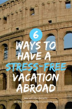 6 things to do for a meaningful and stress-free trip to Europe | Travel planning tips #europe #traveldestinations #travel #traveltips
