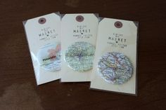 Map Magnets! Gotta try this...