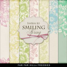 New Freebies Kit of Backgrounds - Smiling Spring