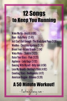 12 Songs to Keep You Running - Perfect for a 50 minute workout! - 12 Songs to Keep You Running – Perfect for a 50 minute workout! 12 Songs to Keep You Running – Perfect for a 50 minute workout! Music Mood, Mood Songs, Positive Songs, Running Music, Songs For Running, Running Humor, Running Tips, Playlist Running, Running Playlists