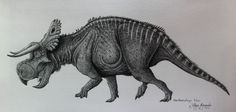 Nasutoceratops titusi by  Filipe Bernardo. Can you believe this is pencil?!