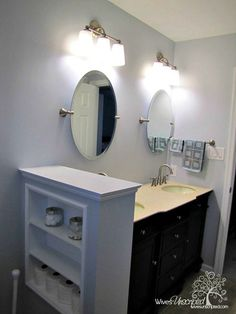 Modify a small peninsula shelf like this for a privacy screen in my 'bath in a closet'?
