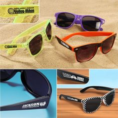 Add classic cool to your event or campaign with custom sunglasses! Retro, sporty or funky options achieve just the right look!