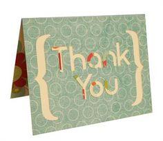 cute thank you card!