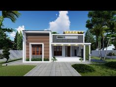 900 Square Feet Single Single Story Home Design With Two Bedroom | Interior Video Tour - YouTube Small Modern House Plans, Modern House Design, House Plans One Story, Story House, Interior Design Videos, Single Story Homes, Home Design Plans, Two Bedroom, Apartment Design