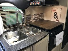 Husband made me a large stove cover so I'd have more even counter space in the W… Tent Camping, Camping Hacks, Camping Ideas, Rv Stove Cover, Camper Stove, Stove Board, Winnebago Minnie, Travel Trailer Remodel, Rv Living
