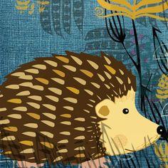 hedgehog card by Jill White- square