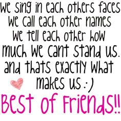 Best Friend Memories: best friend quotes and sayings just friends funny true friends  @Darcy Fitzpatrick Wayman