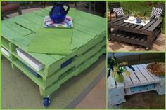 creative ideas with pallets... coffee table with pallets