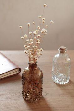 复古玻璃浮雕小花瓶
