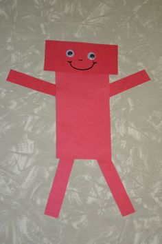 Red Rectangle Robot Craft