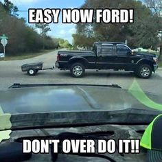Someone says as they sit in a Ford