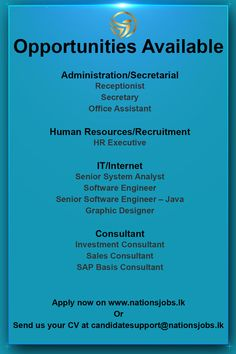 Company Job, Office Assistant, Receptionist, Human Resources, Secretary, Opportunity, Investing, Engineering, How To Apply