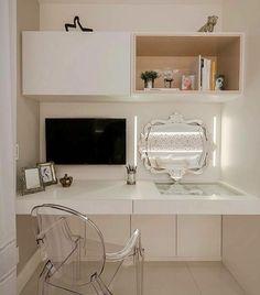 Interiores e Arquitetura ( Bedroom Seating, Bedroom Decor, Bedroom Ideas, Study Table Designs, New Room, Girl Room, Home Office, Interior Design, Decoration