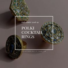 Be it your traditional avatar or your favourite black dress, we've got you covered with Cocktail rings to match every outfit! Stay tuned for an eclectic range of Polki cocktail rings designed for the Indian Designer Wear, Cocktail Rings, Stay Tuned, Ring Designs, Avatar, Fashion Forward, Gold Jewelry, You Got This, Fall Winter