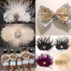 Dance Competition Hair Piece Black and by