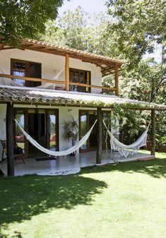 Casas da Clea Paiva Trancoso: House 02 - All About Tropical House Design, Tropical Houses, Tiny House Design, Village House Design, Village Houses, Rest House, Backyard, Patio, Future House