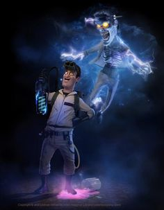 Check These Out: Pixar Animation Style Characters for 'Ghostbusters' Ghostbusters Characters, Ghostbusters 1984, The Real Ghostbusters, Tony Stark, Paranormal, Die Geisterjäger, Superman, 3d Character Animation, Poster