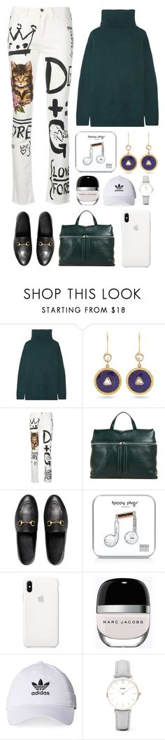 """""""6.834"""" by katrinattack ❤ liked on Polyvore featuring Prada, Jade Jagger, Dolce&Gabbana, Kara, Gucci, Happy Plugs, Marc Jacobs, adidas, CLUSE and WorkWear"""