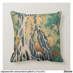 Japanese Art custom throw pillow
