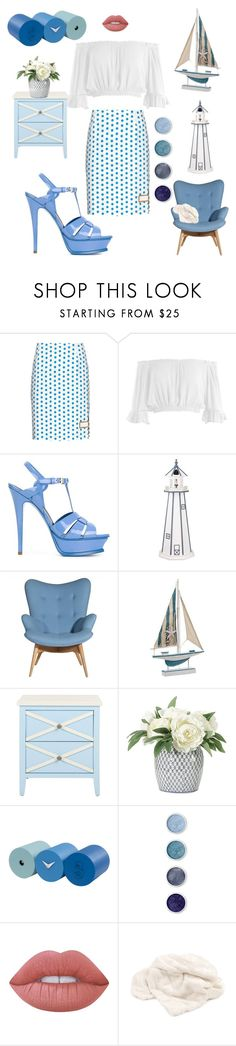 """""""Off the Shoulder Fashion"""" by kotnourka ❤ liked on Polyvore featuring J.W. Anderson, Sans Souci, Yves Saint Laurent, DutchCrafters, NDI, Progetti, Terre Mère, Lime Crime and Dot & Bo"""