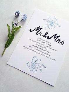 Floral wedding invitation set / Editable & Printable / available in my Etsy Shop Floral Wedding Invitations, Wedding Invitation Templates, Digital Prints, My Etsy Shop, Printables, Unique Jewelry, Handmade Gifts, Fingerprints, Kid Craft Gifts
