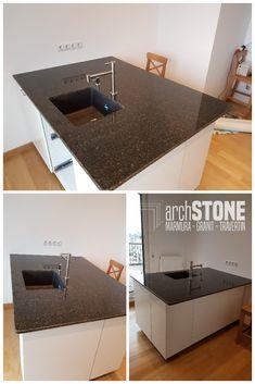 Blat pentru baie sau bucatarie din Granit Verde Bahia Bathroom, Business, Bahia, Travertine, Granite, Washroom, Bathrooms, Store, Bath